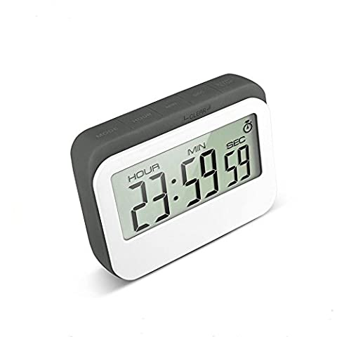 VPAL Digital Kitchen Timer 12 / 24 Hours Alarm Clock with Magnetic Back and Retractable Stand, Large LCD (Kitchen Digital Clock)