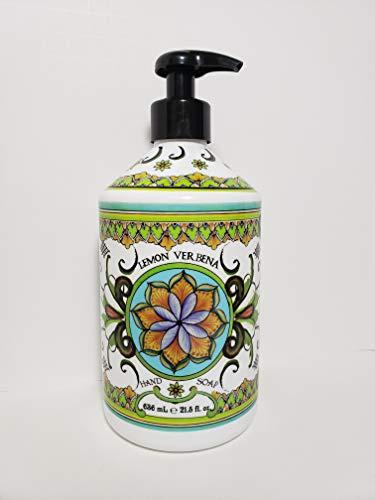 Deruta Lemon Verbena Hand Soap – Perfect Kitchen Decor Soap – Organic Liquid Hand Soap with Italian Soap Dispenser…