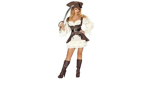 Costumi Halloween 2019 Lidl.Amazon Com Sexy Pirate Wench Ruffle Dress Halloween Costume Clothing