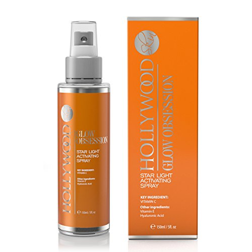GLOW OBSESSION - 20% Vitamin C Facial Spray. Anti-aging and deeply moisturising. 4x STONGER than the competitors. With 10% Hyaluronic Acid, 1% Vitamin E + Witch Hazel. 150 ml (1 Bottle) by hollywoodskin