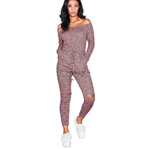 OHQ Pantalon De Couture La Mode Noir Vin Gris Femmes Clubwear Combishort Bodycon Party Combinaison Barboteuse Long Pantalons Femme Taille Haute Ski Fille Ans Enceinte Grossesse Du Vin