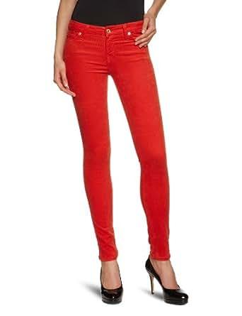 7 For All Mankind Women's Colored Corduroy Skinny Jean, Burnt Orange, 24