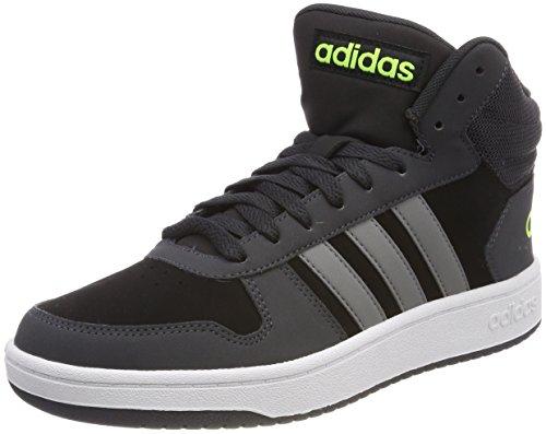Adidas Heren Hoepels 2,0 Mid Fitness Schoenen Zwart (negbas / Gritre / Carbon 000)