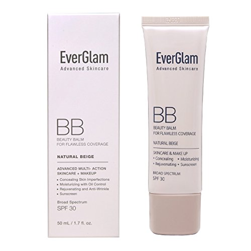 K Beauty Skin Perfector - BB Cream SPF 30 in Natural Beige (Light Medium) | Korean Cosmetics by EverGlam Best Tinted Moisturizer Oily Skin