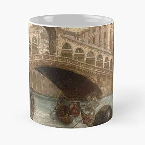 (Venice Venezia Gondola Vintage Postcard - Coffee Mugs Unique Ceramic Novelty Cup Best Gift)