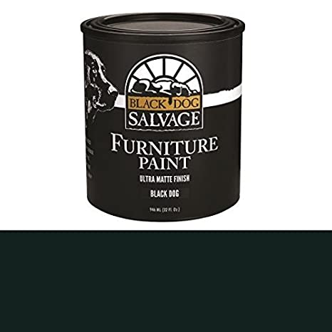 Black Dog Salvage Black Dog Black Furniture Paint 946ml