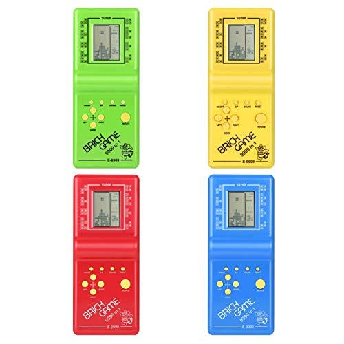 shengerm Electronic Tetris Brick Game Kids Classic Handheld Game Machine with Game Music Boys Girls LCD Educational Toys