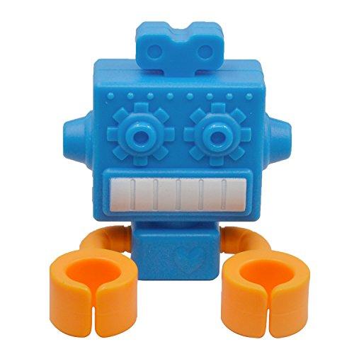 Kangkang@ Multi-functional Silicone Suction Cup Cartoon Robot Plug Hanger Pen Toothbrush Holder Toothbrush Rack Bathroom Storage Set (blue)