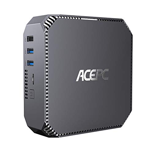 Mini PC, ACEPC 8GB RAM 128GB ROM Mini Desktop Computer, Intel Celeron J3455 4K HD Micro Computer with Gigabit Ethernet…