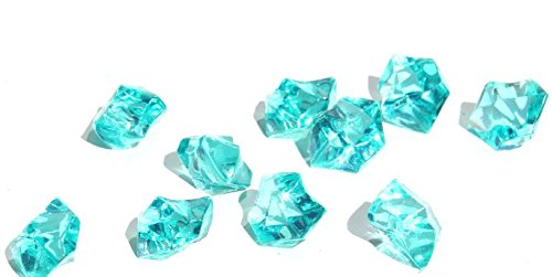 Ice Rock Crystals Treasure Gems for Table Scatters, Vase Fillers, Event, Wedding, Birthday Decoration Favor, Arts & Crafts (1 lb. Bag) by Homeneeds Inc (AQUA BLUE)