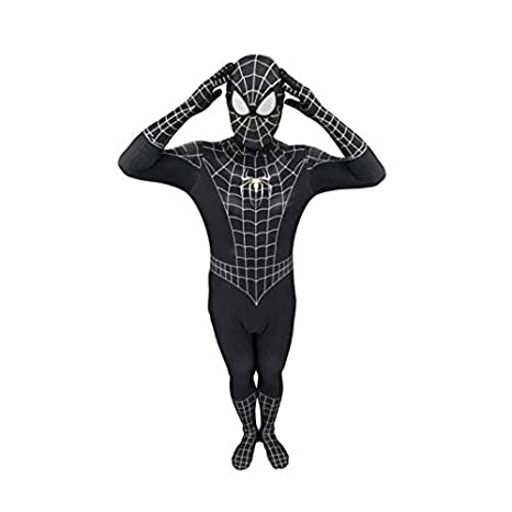 LHKJB Traje siamés Digital 3D Spiderman Negro Juega Cosplay ...