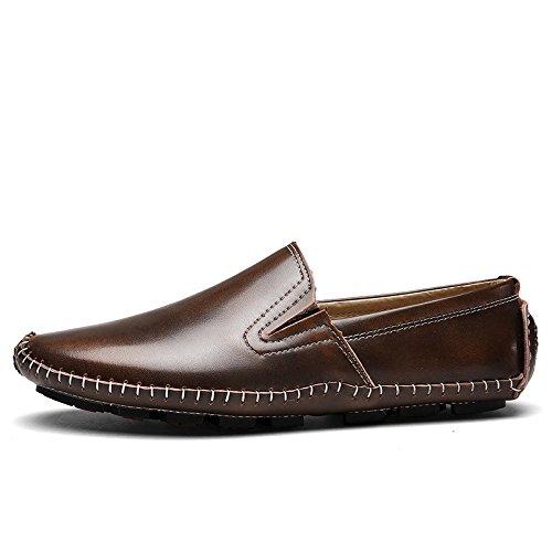 D'affaires Toile Pois Bleu Rouge Automne Sports Chaussures Chaussures Marron Printemps Occasionnels en Dentelle Hommes Cuir Brown Chaussures zmlsc SqAZ0A