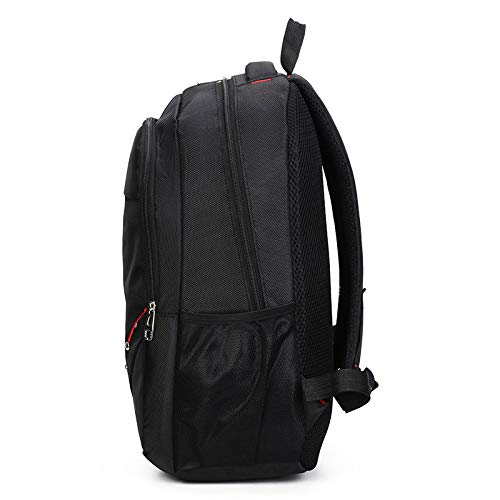 Backpack Backpacks Bag Work black Large Waterproof Casual black Color Travel Zhjb Business Solid Black Sports College Computer Unisex Capacity SxFZx5qHw