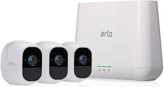 Arlo Pro 2 - 3 Camera System, Work with Alexa, Inbuilt alarm siren, Rechargeable, Wire-Free, 1080p HD, Audio, Indoor/Outdoor, Night Vision (VMS4330P-100AUS)