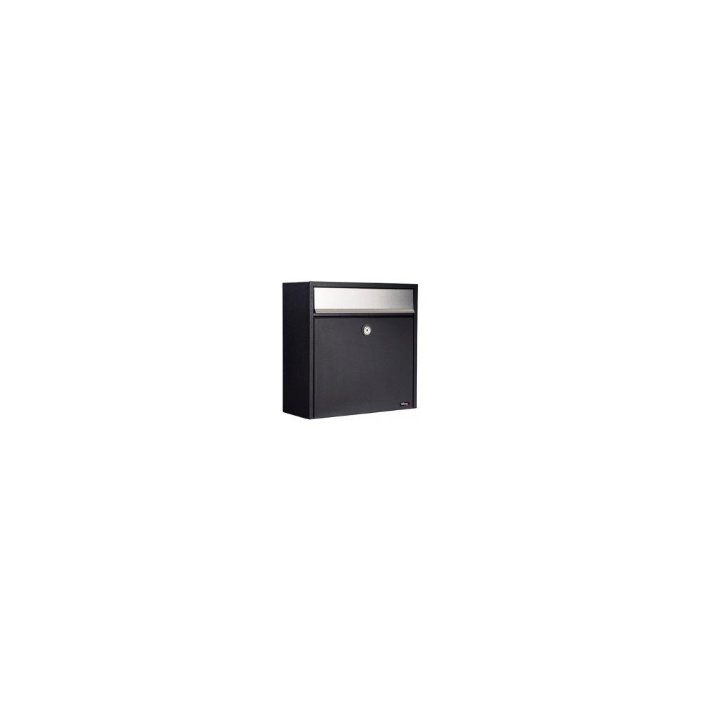 Liebe【リーベ】郵便ポスト 『パブリック』 ブラックxステンレス (ALLUX-250) F50082 B071RZTZR2 15660