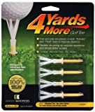 4 Yards More Golf Tee - 2 3/4' - Yellow (4 Tees)