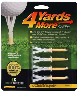 "4 Yards More Golf Tee - 2 3/4"" - Yellow (4 Tees)"