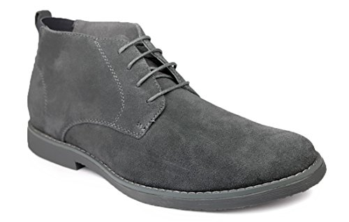gray suede dress boots - 8