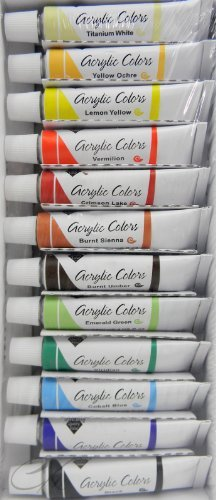 Price comparison product image Nicole Acrylic Colors Set, 12 Tubes, 12-ml each