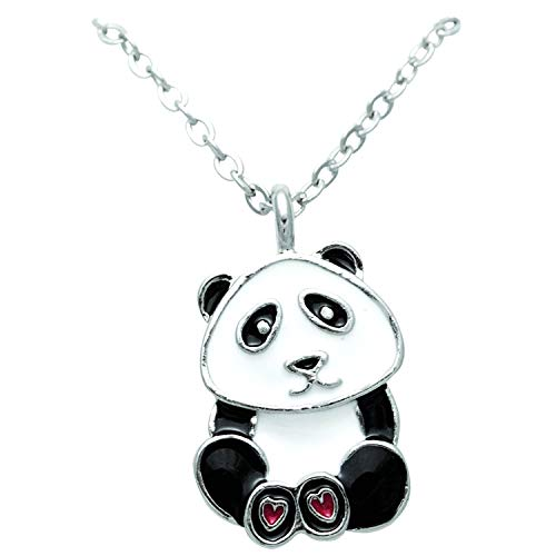 Panda Bear Pendant Necklace in Figural Gift Box ()