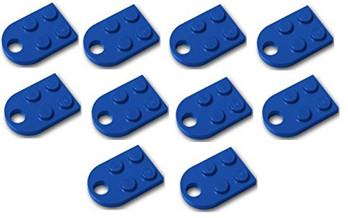 Blue Plates Legos - LEGO Parts: Blue Plate 3 x 2 3x2 with Hole x10 Loose