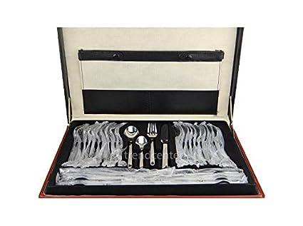 4000 - Cubertería de 72 piezas de acero inoxidable 18/10 con maletín