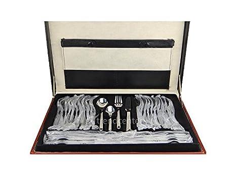 4000 - Cubertería de 72 piezas de acero inoxidable 18/10 con maletín: Amazon.es: Hogar