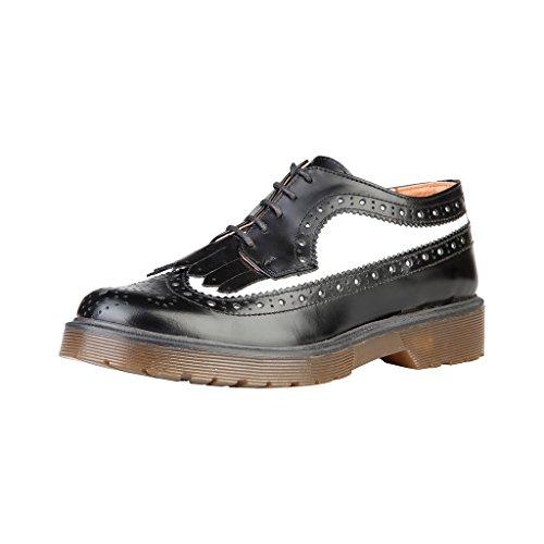 Piel De Suela Modelo Zapatos Ana negro Gruesa Y Ylva Cordones Para Lublin Con Mujer Blanco qEYgfftz