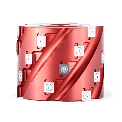 Amana Tool 61283 Insert Carbide Aluminum Roughing Spiral Planer 24 Teeth x 5 D x 4 CH x 1-1/4 Bore Shaper ()