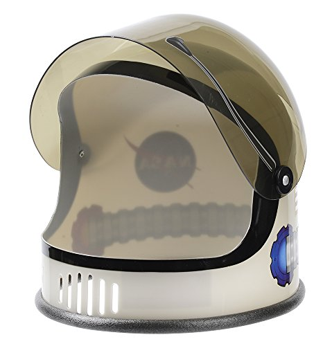Silver Small Helmet - Aeromax Youth Astronaut Helmet with Movable Visor, Silver, 3-10 Years