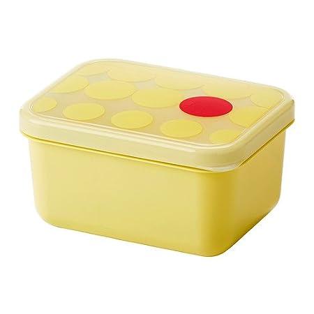 IKEA Kullar - Caja de almuerzo, amarillo - 15x11x8 cm: Amazon.es ...