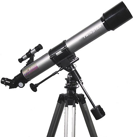 Silver TwinStar 70mm Refractor Telescope by Twin Star