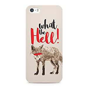 Loud Universe Fox What The Hell Printed Edges Durable Wrap Around iPhone 5s Case - Grey