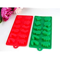 2-Piece Red/Green Christmas Theme Holiday Chocolat