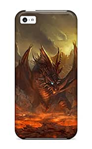 New Fashion Premium Tpu Case Cover For Iphone 5c Dragon's Lair