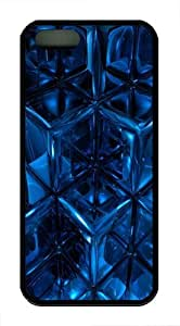 Blue abstract TPU Silicone Case Cover for iPhone 5/5S Black Halloween gift
