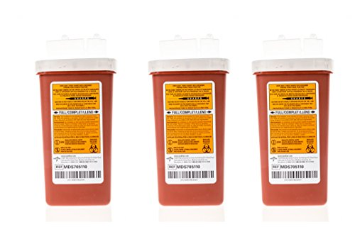 1 Quart Medical Sharps Containers - Flip Lid - 3 Pack ()