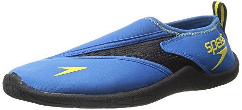 Speedo Men's Surfwalker 3.0 Water Shoe, Blue/Black, 9 M US