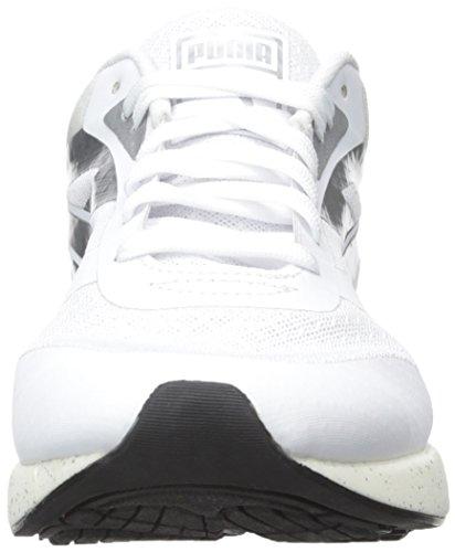Puma 698 Ignite metálico Sportstyle la zapatilla de deporte White-Puma Silver-White