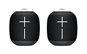 2 Pack - UE WONDERBOOM Super Portable Waterproof Bluetooth Speaker, Phantom Black