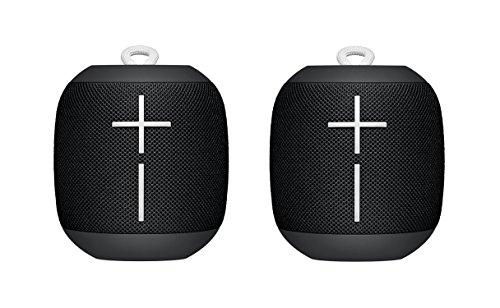 Logitech UE WONDERBOOM Portable Bluetooth Speaker Subzero BLACK (2-Pack)