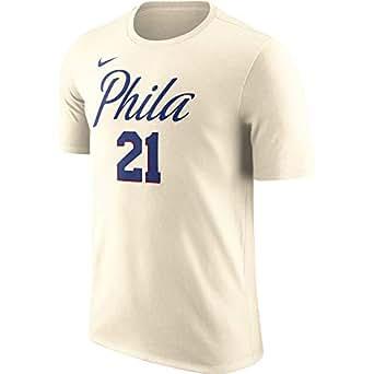 Nike NBA Philadelphia 76ers Joel Embiid 21 2017 2018 City Edition Jersey Official Name & Number, Camiseta de Niño