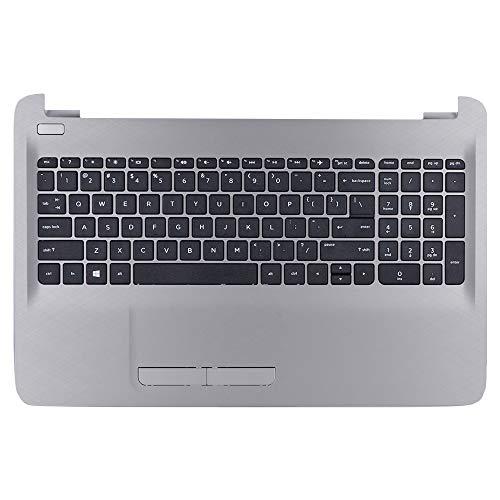 Cover Top Palmrest (Eathtek Replacement Top Cover Palmrest Upper Case with Touchpad and Keyboard Silver for HP 15-AC 15-AF 15AF 15-AF130NR Series, Compatible Part Number 813975-001 8K165N AP1EM000332)