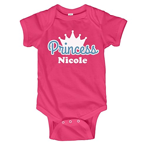 Princess Nicole Onesie: Infant Rabbit Skins Lap Shoulder Creeper