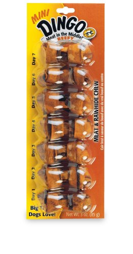 Dingo Mini Beefy Bones 7-Pack, 3-Ounce, My Pet Supplies