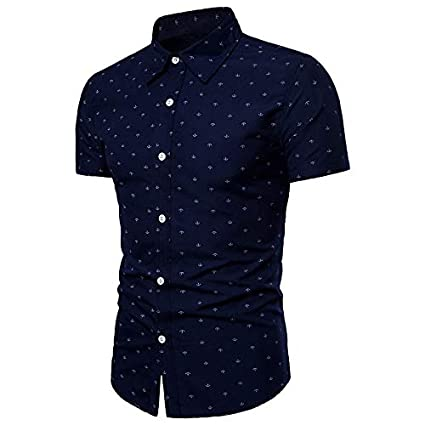 a0e072986840 Amazon.com   IYFBXl Men s Chinoiserie Plus Size Shirt - Floral ...