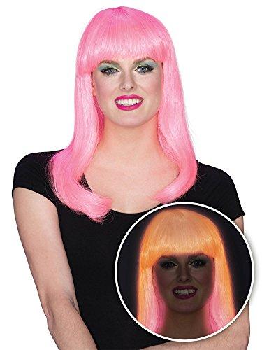 Rubie's Women's Glow Babe Wig, Pink, One -