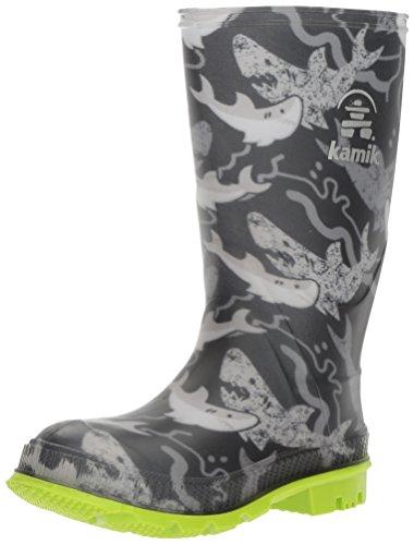 Kamik Rain Boots (Kamik Boys' STOMP2 Rain Boot, Black, 6 M US Big Kid)