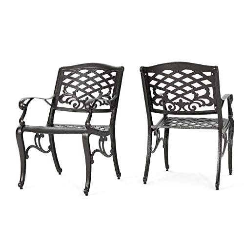 Hanover TRADDN3PCG Traditions 3-Piece Bistro Set in Tan with 30 in. Glass-Top Table