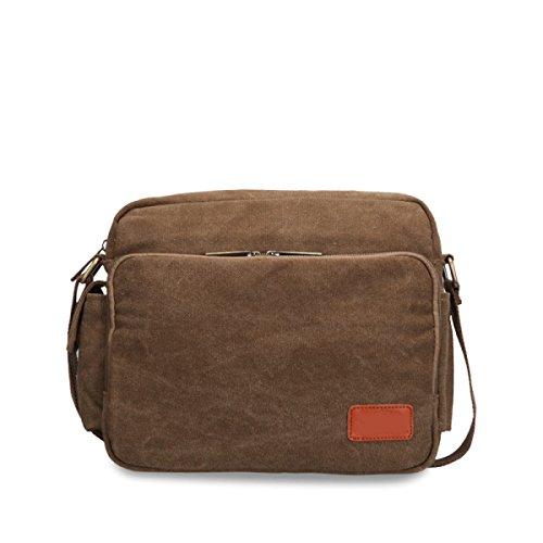 Europa Multifunzionale Retro Maschio Casuale Messenger Bag Spalla,Brown-OneSize